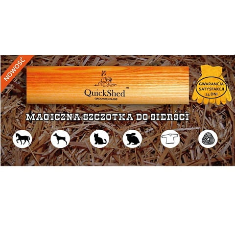 e7473804ee1ac Magiczna szczotka QuickShed do usuwania sierści i brudu konia i psa ...